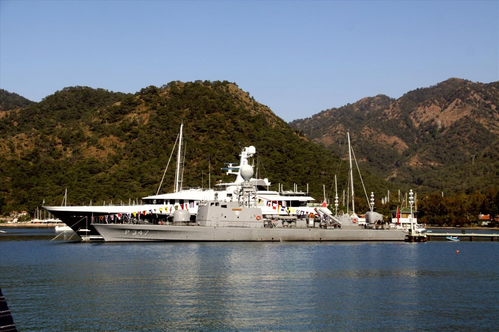 Official Warship in Town for the Entertainment Weekend in Gocek