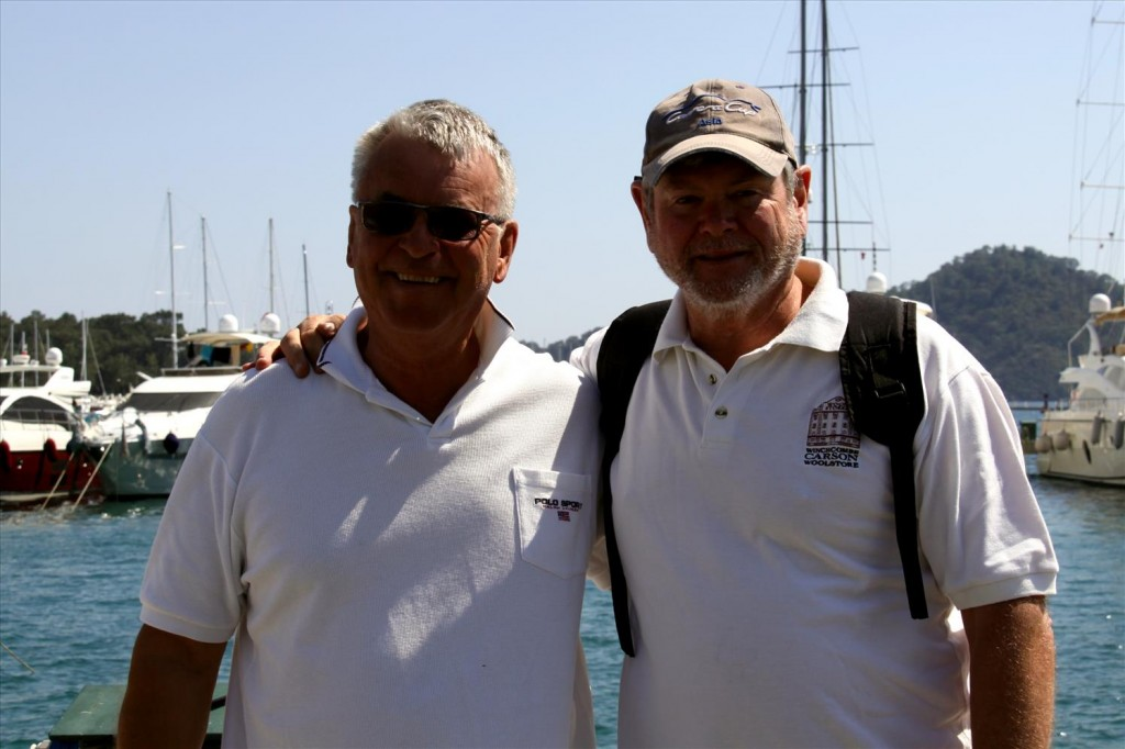 Our New Australian Sailing Friend, John with Ric