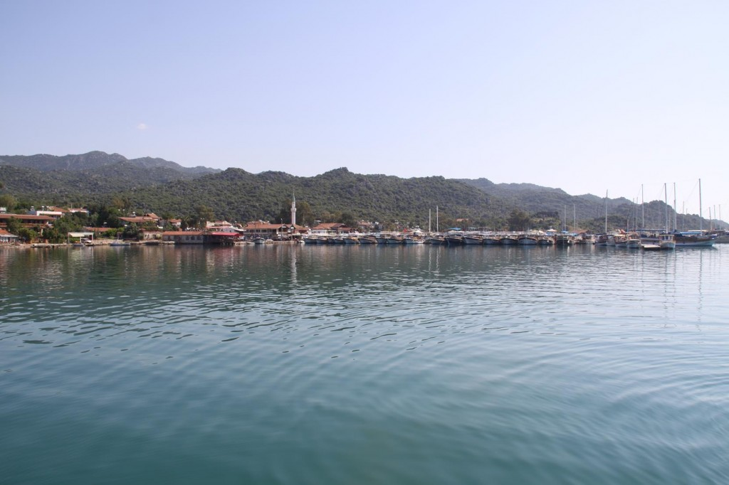 The Jetties and Restaurants by the Small Town of  Ucagiz