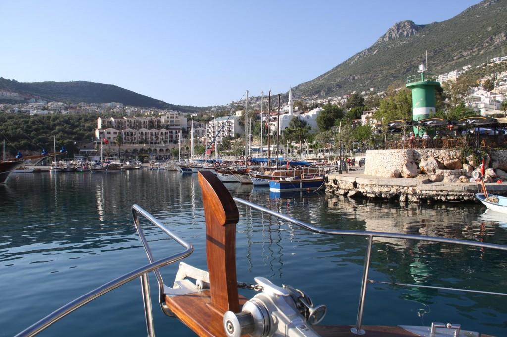 Entering the Kalkan Port