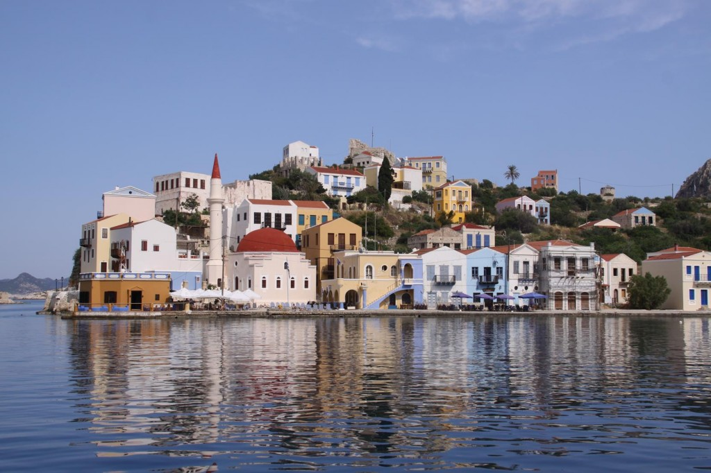 The Freshly Painted Greek Houses Look Amazing in the Old Port