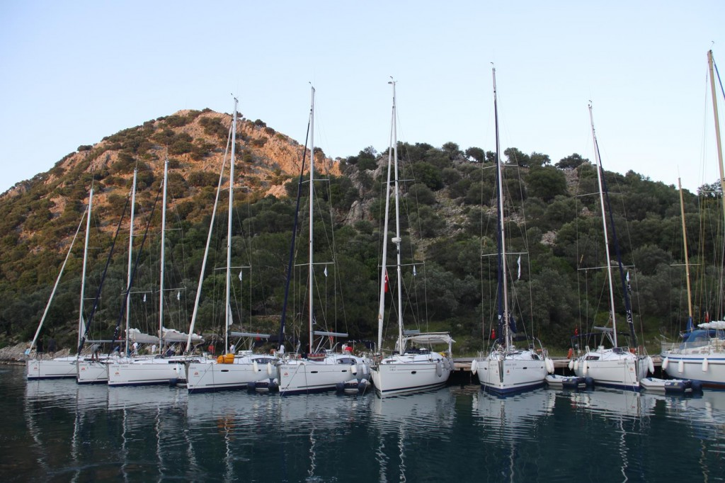 A Flotilla of Yachts Here for the Night