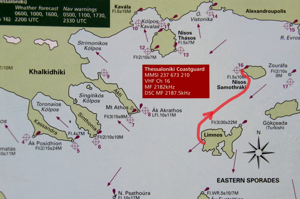 5th May 2014 Mirina Lesvos Island to Kamariotissa Samothraki