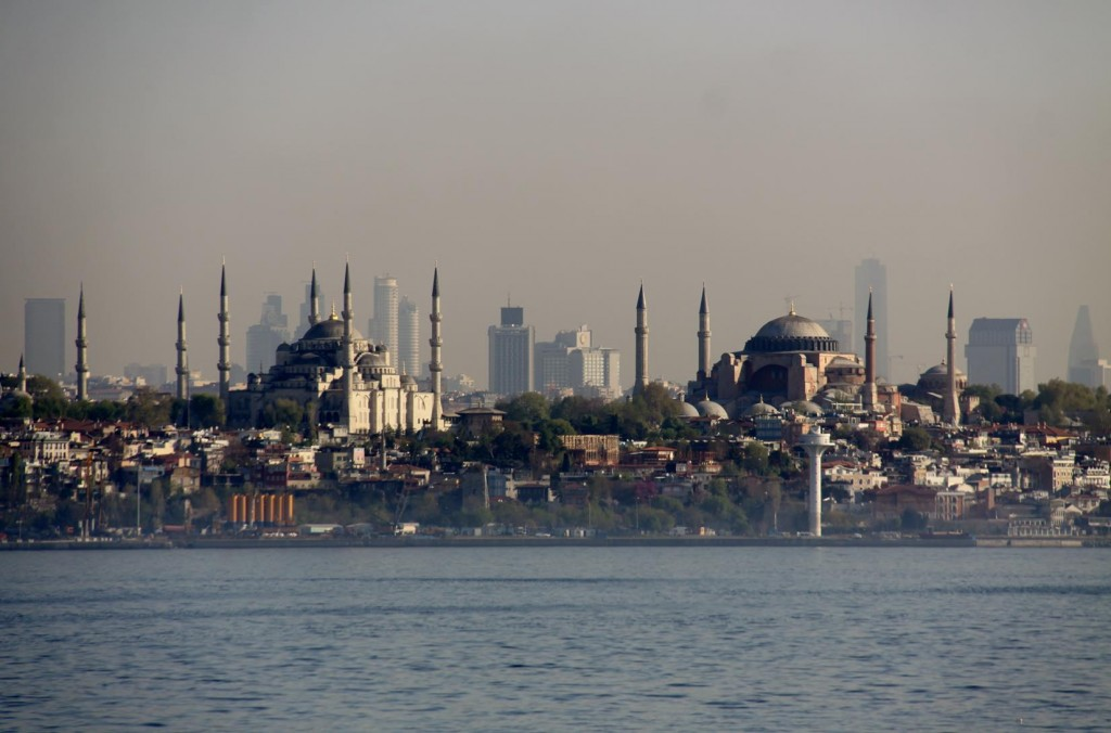 The Blue Mosque and Hagia Sofia Glow in the Early Morning Sun