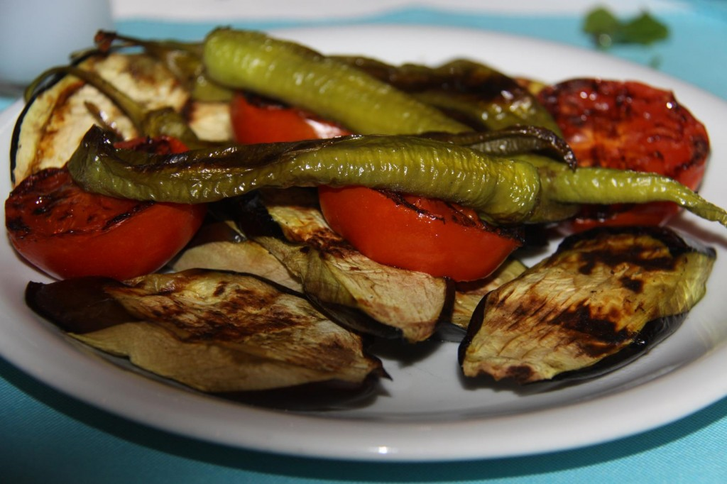 Grilled Vegetables and Grilled Fish for Us