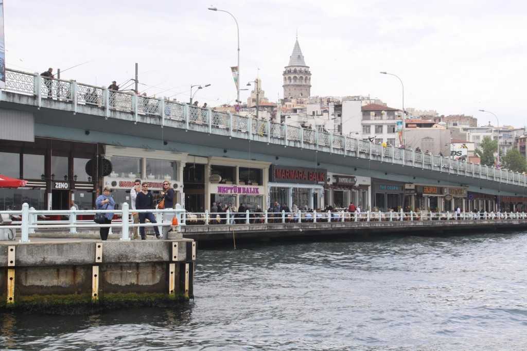 We Approach the Galata Bridge at the Entrance to the Golden Horn