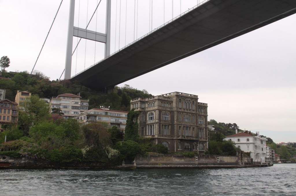 We Pass Back Under the Bosphorus Bridge