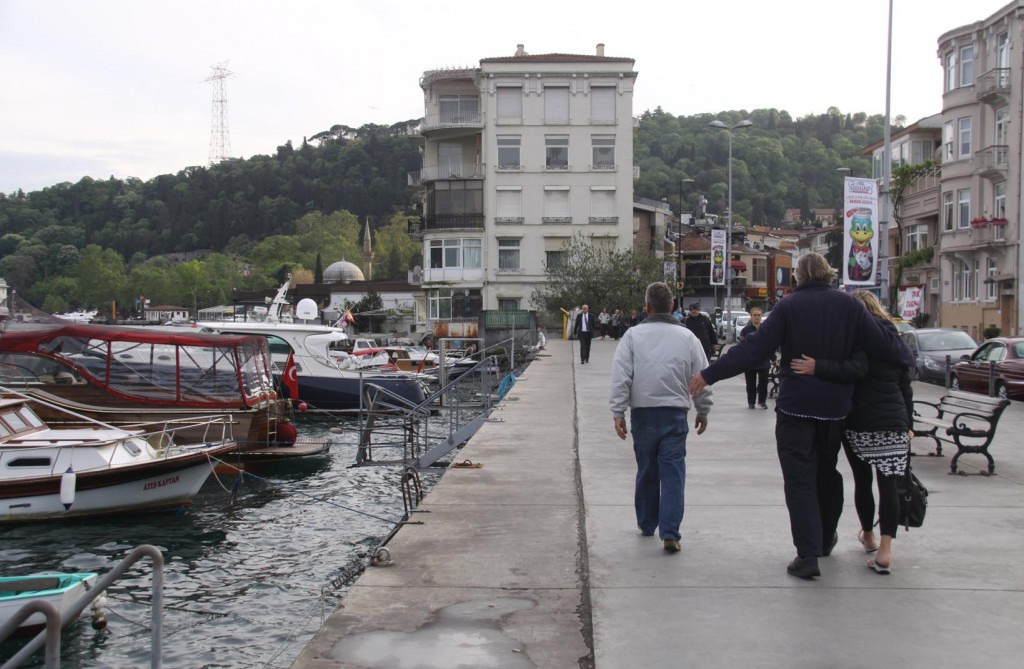 Once Ashore we Head Towards the Group of Restaurants Along the Shore in Bebek