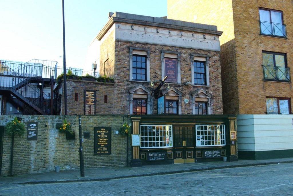 On our excursion we pass the iconic pub, The Prospect of Whitby, dating back to 1320.