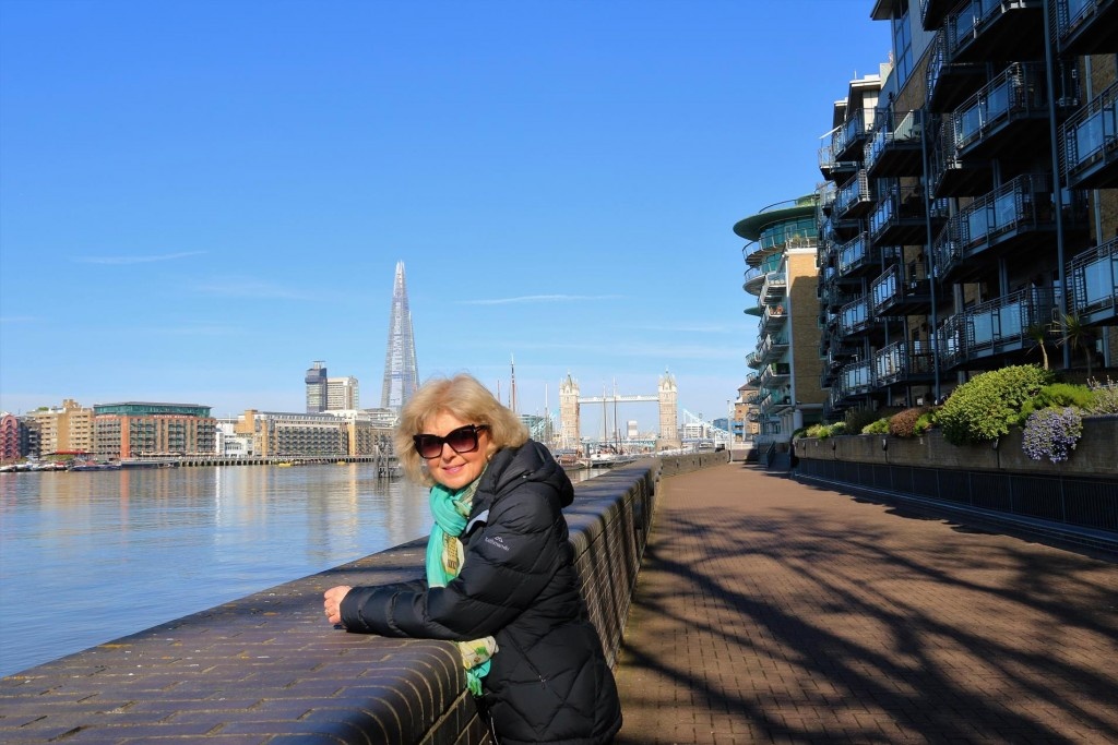 We follow the wonderful walkways along the Thames