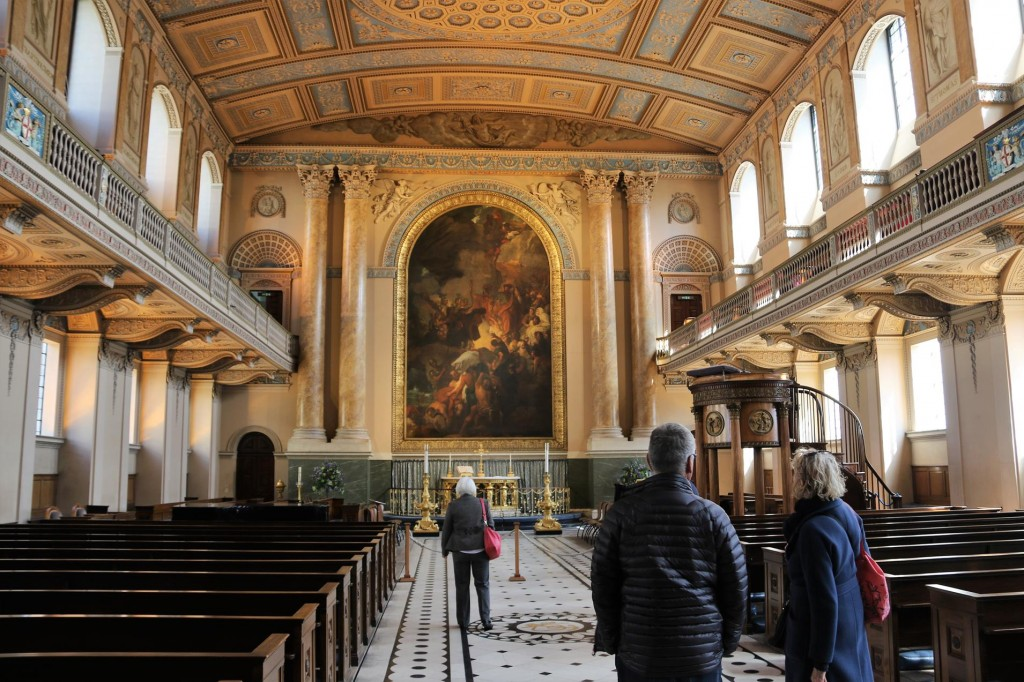 The interior of the chapel which is part of the Queen Mary's Building