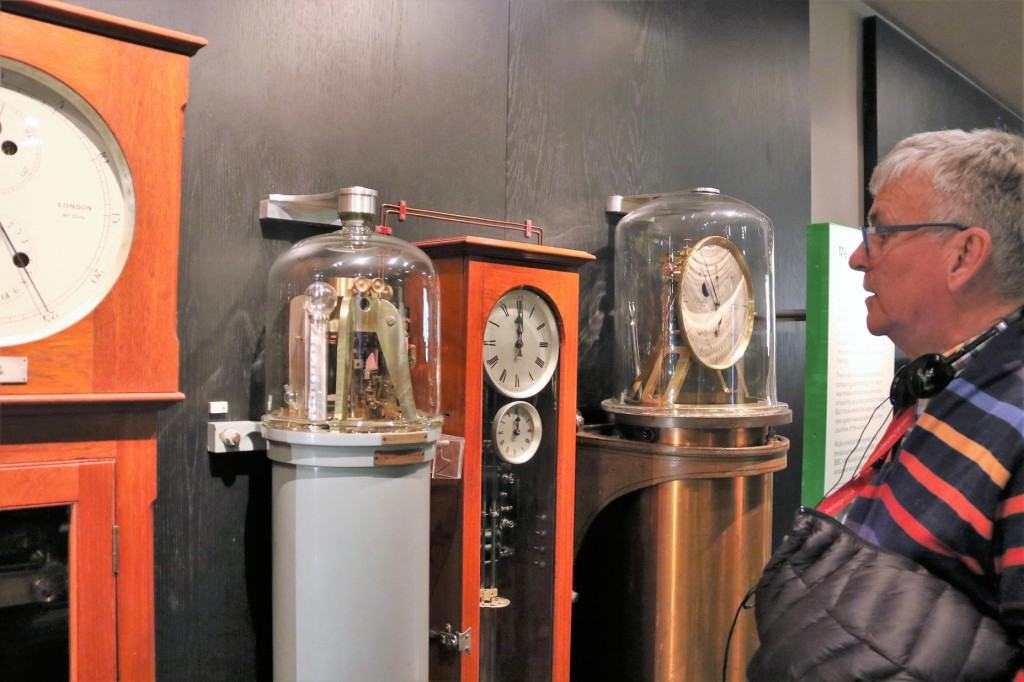 Ric checking out the clocks in the Royal Observatory at Greenwich