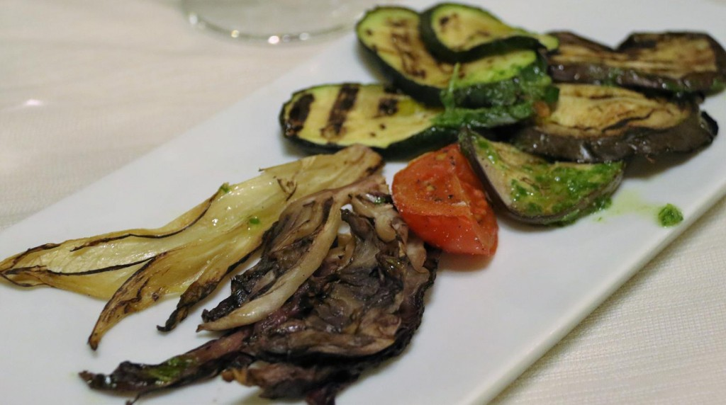 We ordered a plate of lovely grilled vegetables
