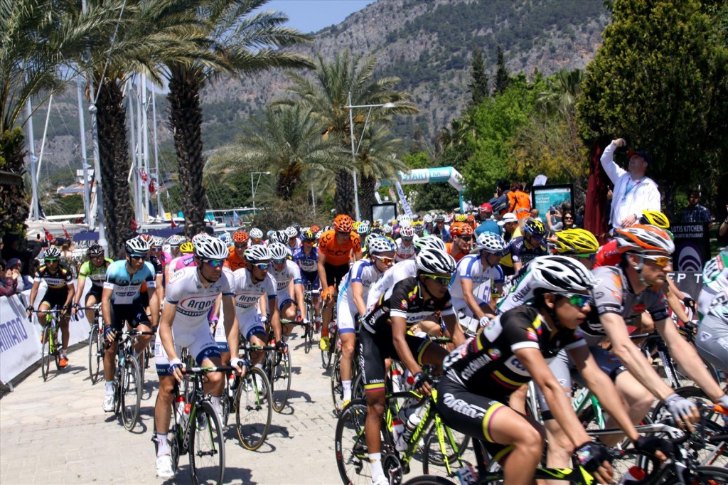 The Start of the Gocek Leg of the Wellknown Bike Race, the Tour of Turkey