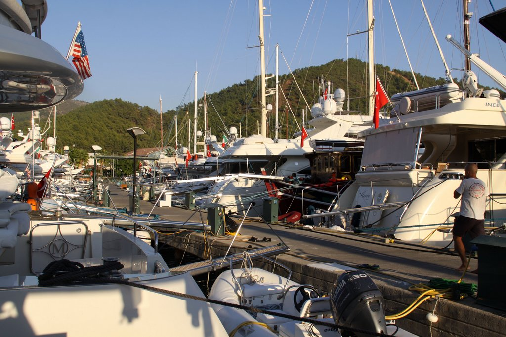 We were Lucky to get a Berth for a Few Days at the Muncipal Marina in Gocek