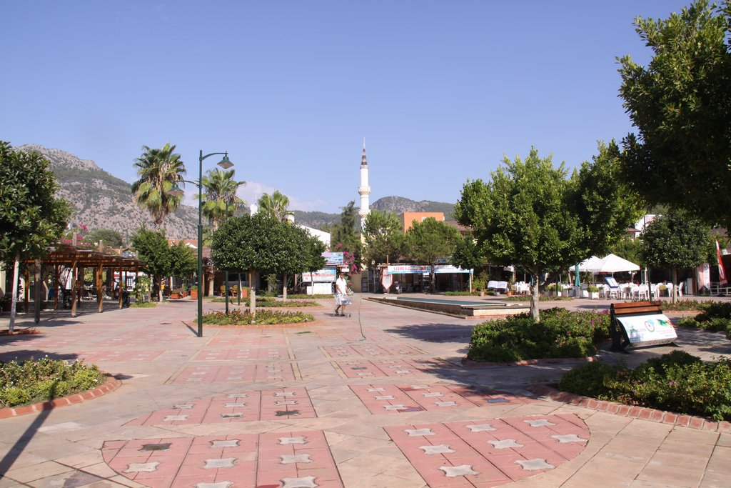 The Town Square is Quiet as a Lot of the Holidaymakers have Departed