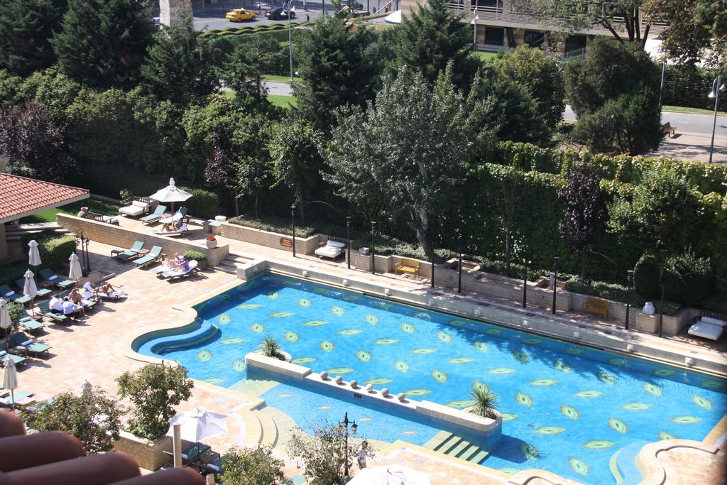 Great Swimming Pool at the Hotel in Istanbul