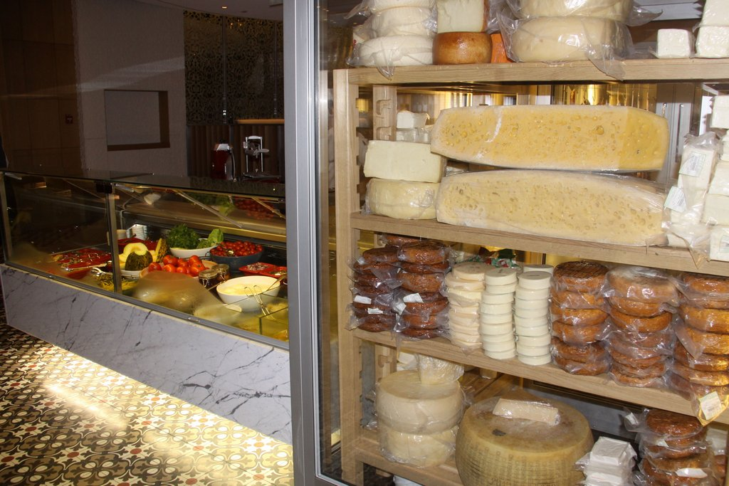 Amazing Cheeses in the Ground Floor Restaurant at our Hotel