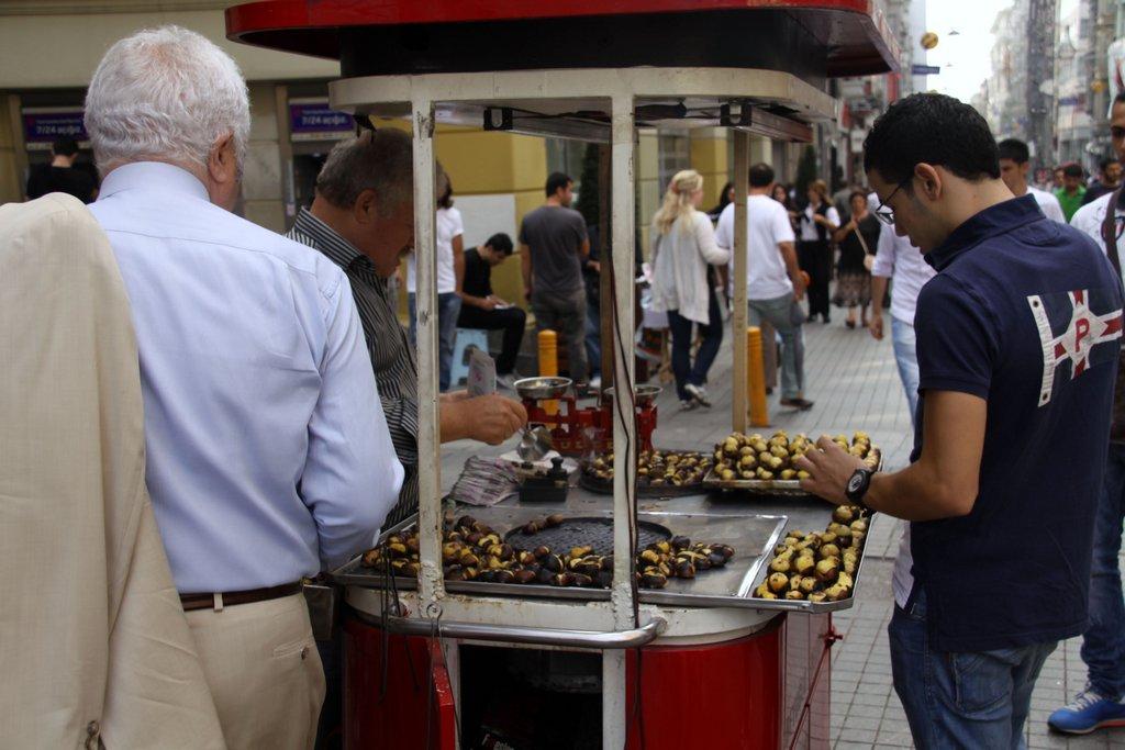 Many Street Stalls Selling Tasty Treats