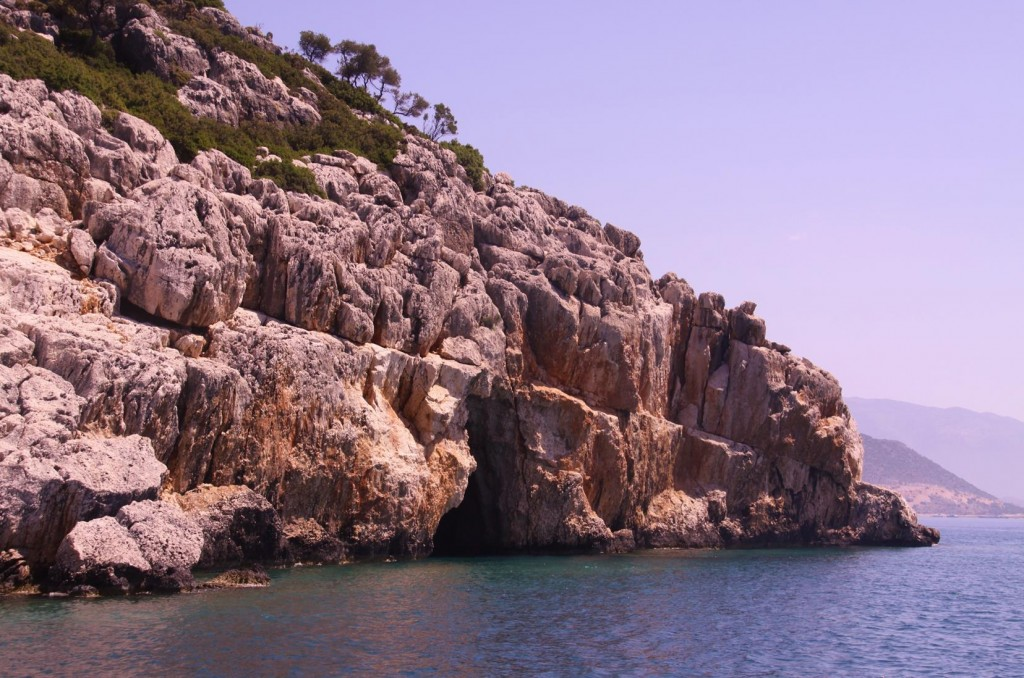 Many Caves in the Rugged Coastline