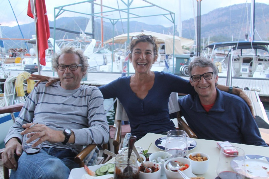 Stephane, Annick and Pillipe Join Us for Drinks