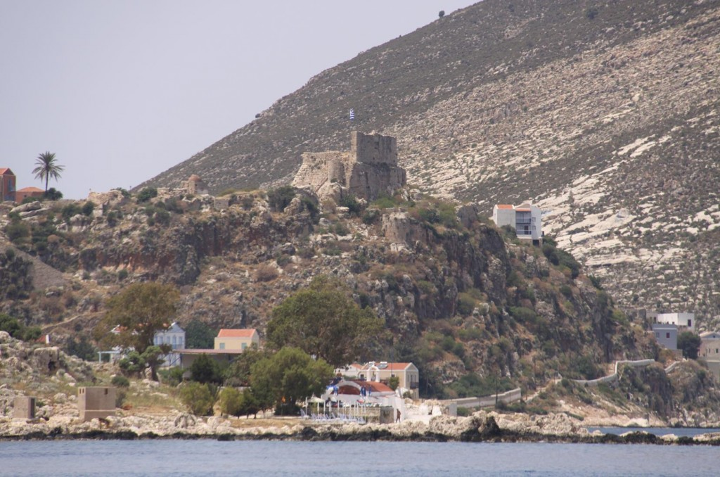 After Only 30 Minutes from Kas we are Welcomed by the Castle at the Entrance to the Town of Kastellorizon, on the Small Greek Island with the Same Name