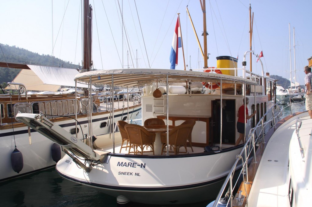 MY MARE-N  Owned and Designed by Well Known Naval  Architect Dick Boon and is Wife  Gundula
