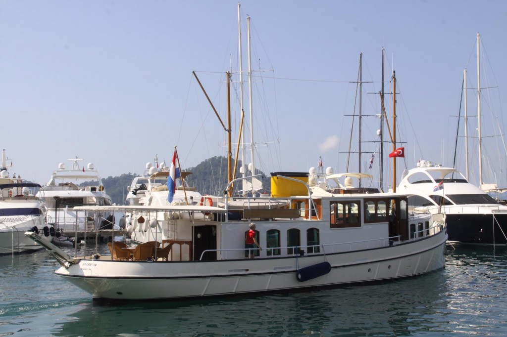 MY MARE-N was our Neighbour for Several Days in the Municipal Marina in Gocek