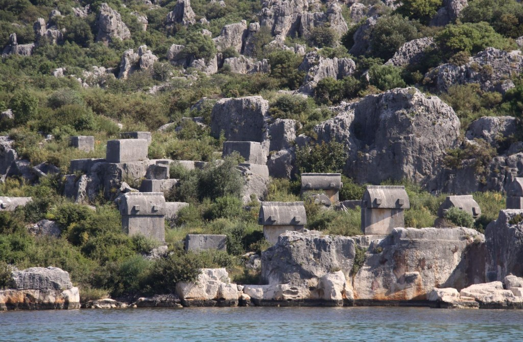 There are  Many Sarcophagi in the Ucagiz Area