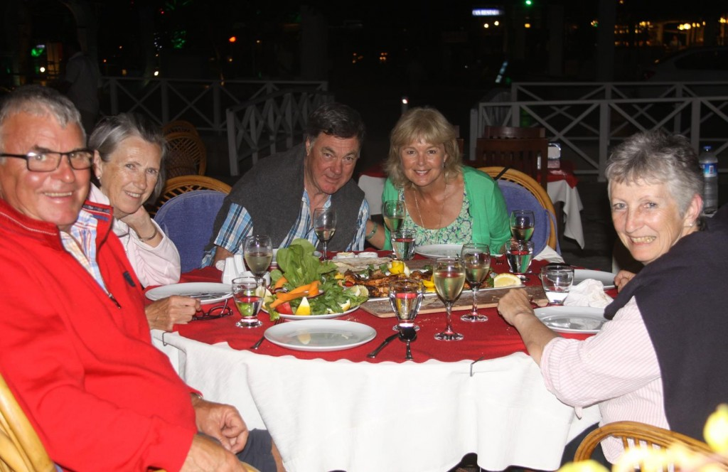 We Join Tim, Jackie and their English Friends at Limon Restaurant for Dinner