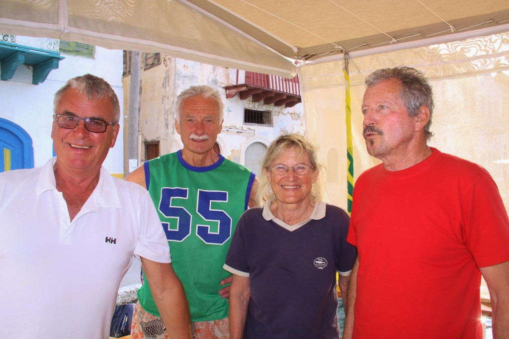 Our New Austrian Sailing Friends Wolfgang, Uli and Stephan