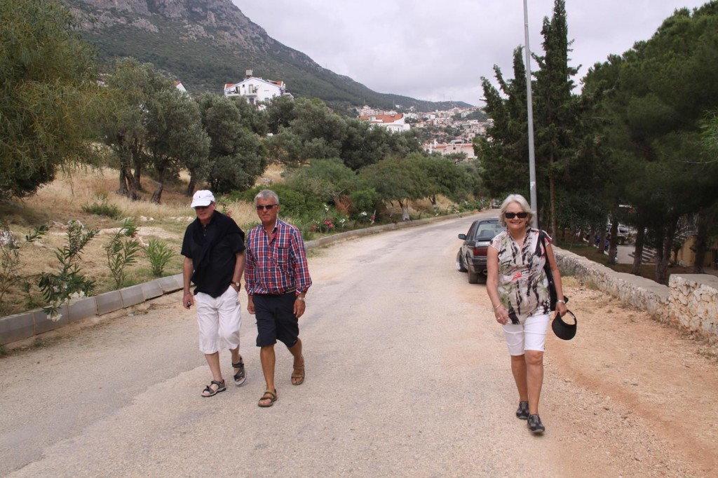 After Mooring the Boat in the Port  we Strolled up to the Ancient Amphitheatre