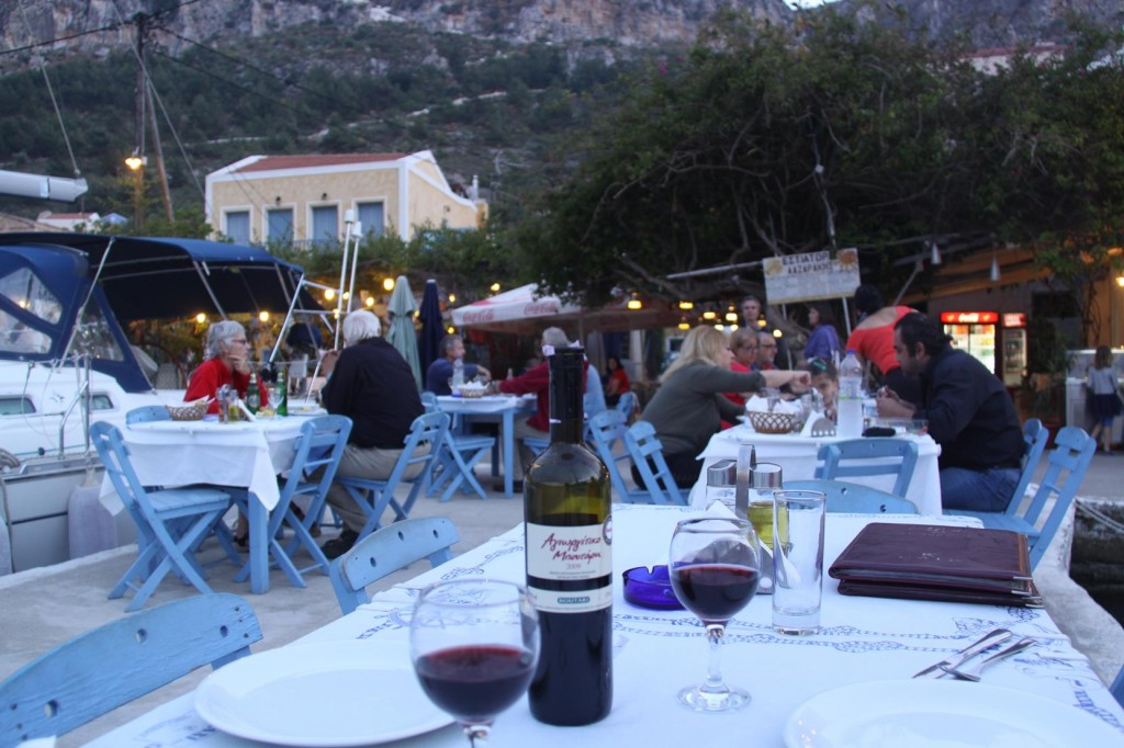 As Expected re our Mooring for the Night we Dine at the Lazarakis Restaurant