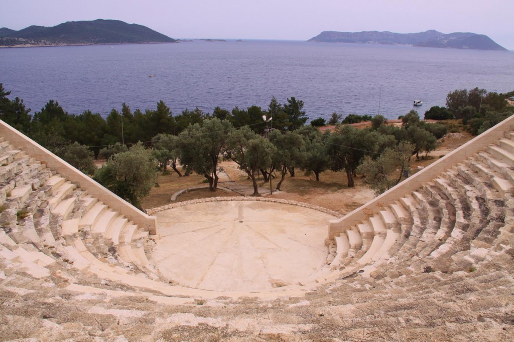 The Ancient Kas Theatre was Built in the 1st Century BC and Has an Amazing View of the Antolian Sea