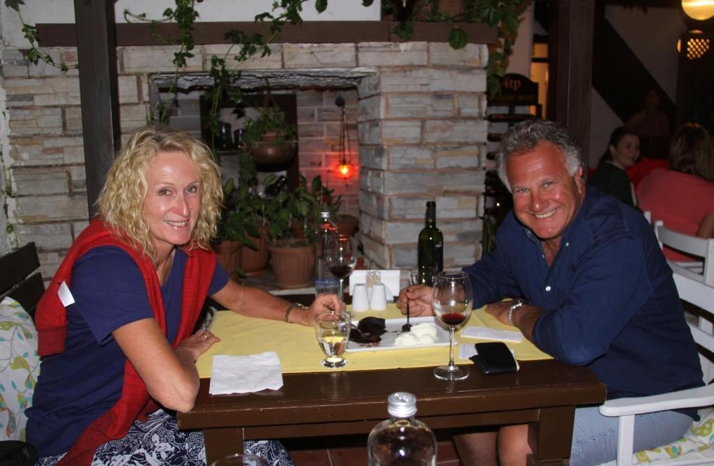 At the Next Table at Maya We Meet Fellow Australians John & Angela Who Keep Their Boat at Kettering
