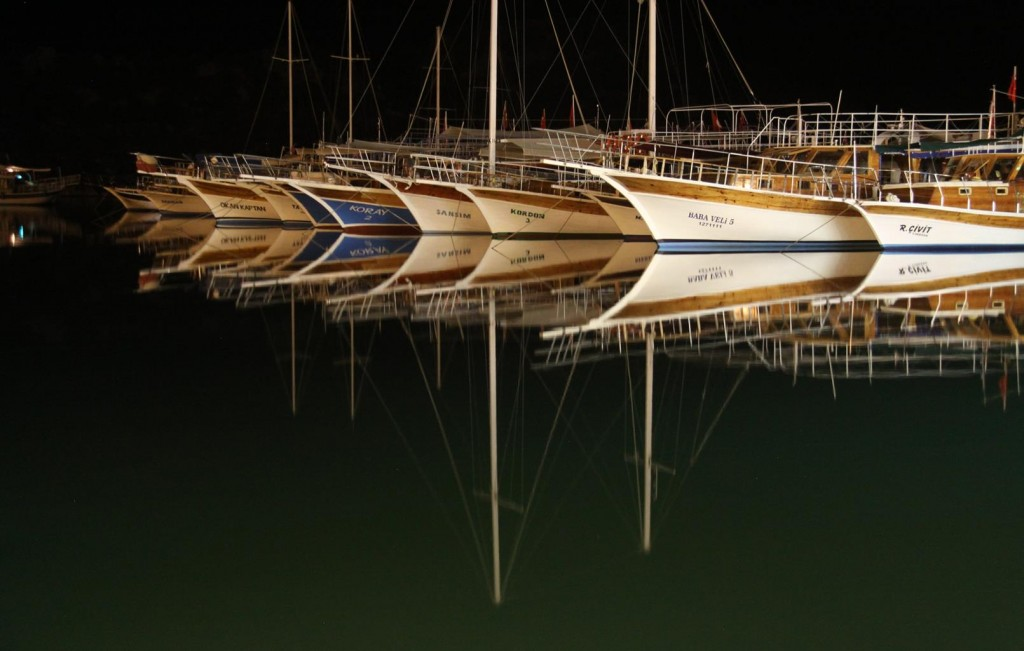 Wonderful Boat Reflections in the Old Port at Icagiz