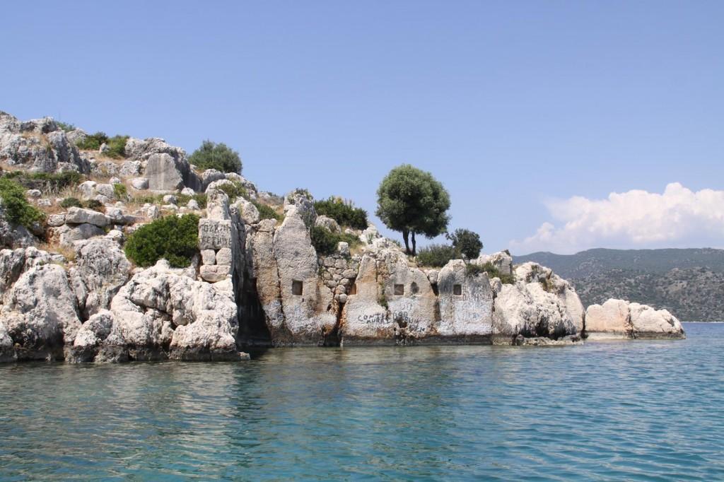 Old Ruins in Tersane Bay Near the Sunken City on Kekova Island
