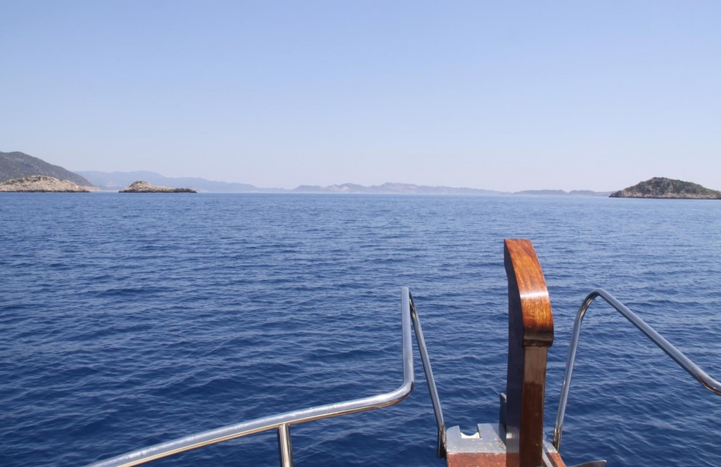 We Head Out of the Bay and Cruise East Towards Kas