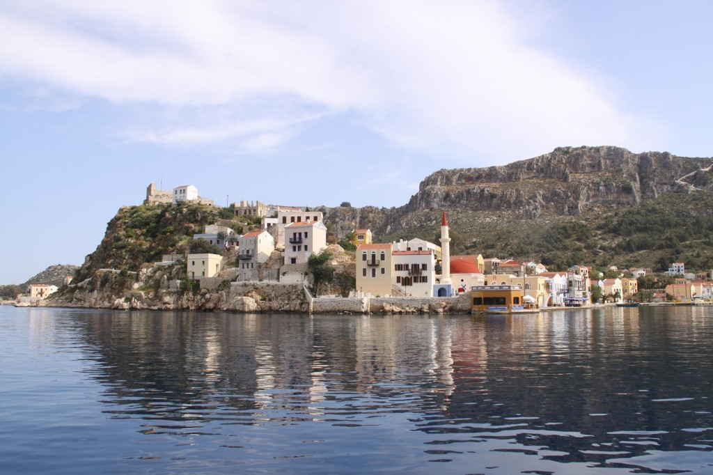 Approaching the Pretty Harbour of Kastellorizon