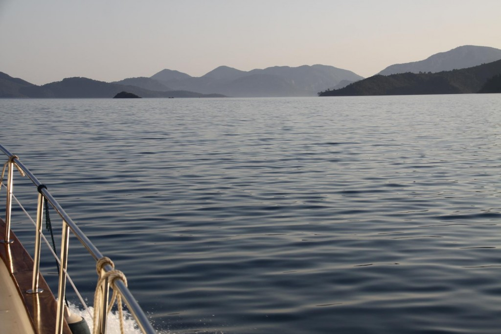 Heading South in the Fethiye Gulf
