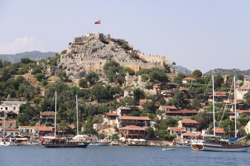 The Castle and Town of Kale Koy which was the Ancient City of Simena
