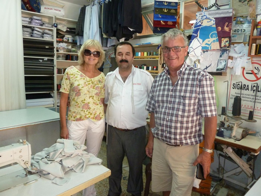 Our Tailor in Gocek Who has Repaired and Made Many Things for Us and the Boat