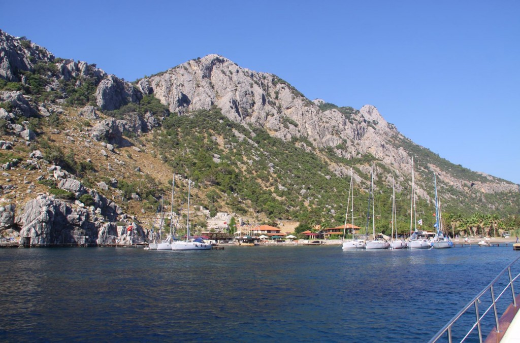 On the Left of the Entrance to Ciftlik Limani is the Alarga Sail Yachtclub & Boutique Hotel