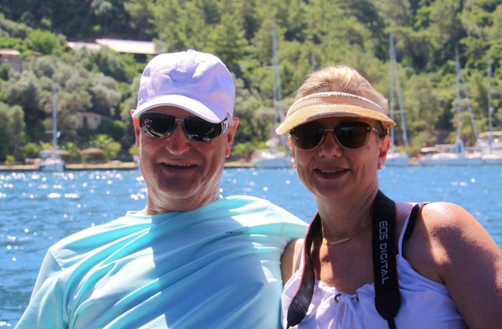 Rod and Kate Looking Forward to our Excursion to Dalyan