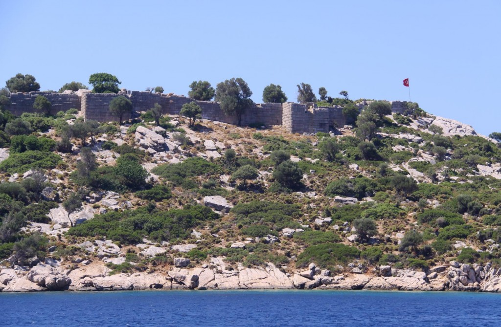 The Ancient Castle which Overlooks the Bozukkale Bay and also Across to Rhodes