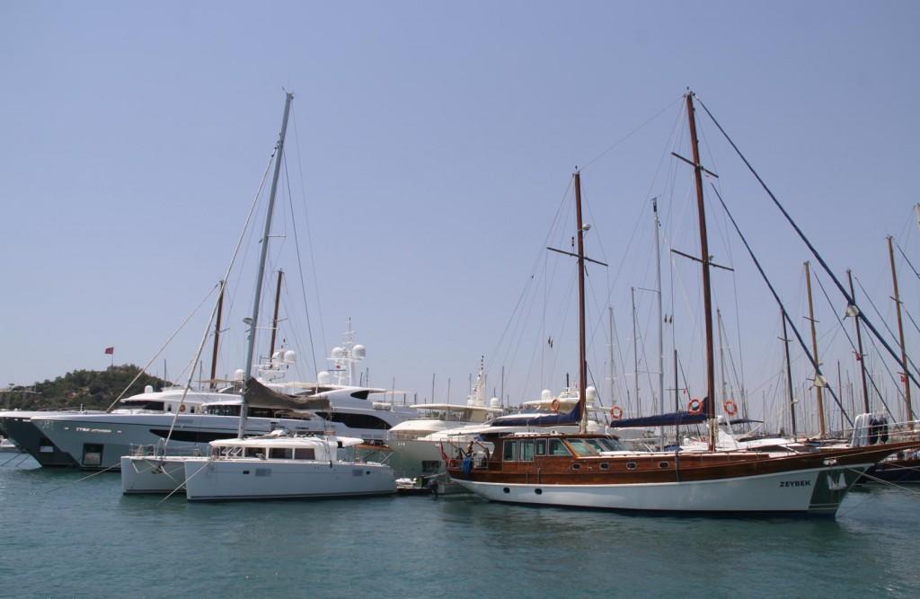 Departing Bodrum Marina