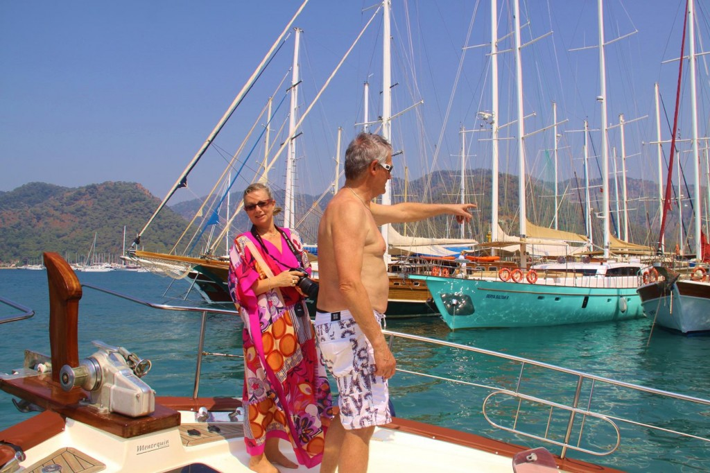 Our Departure from Gocek with our Excited Guests Aboard