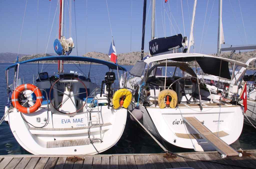The Yachts of Our Spanish Neighbours on the Pier at Sogut