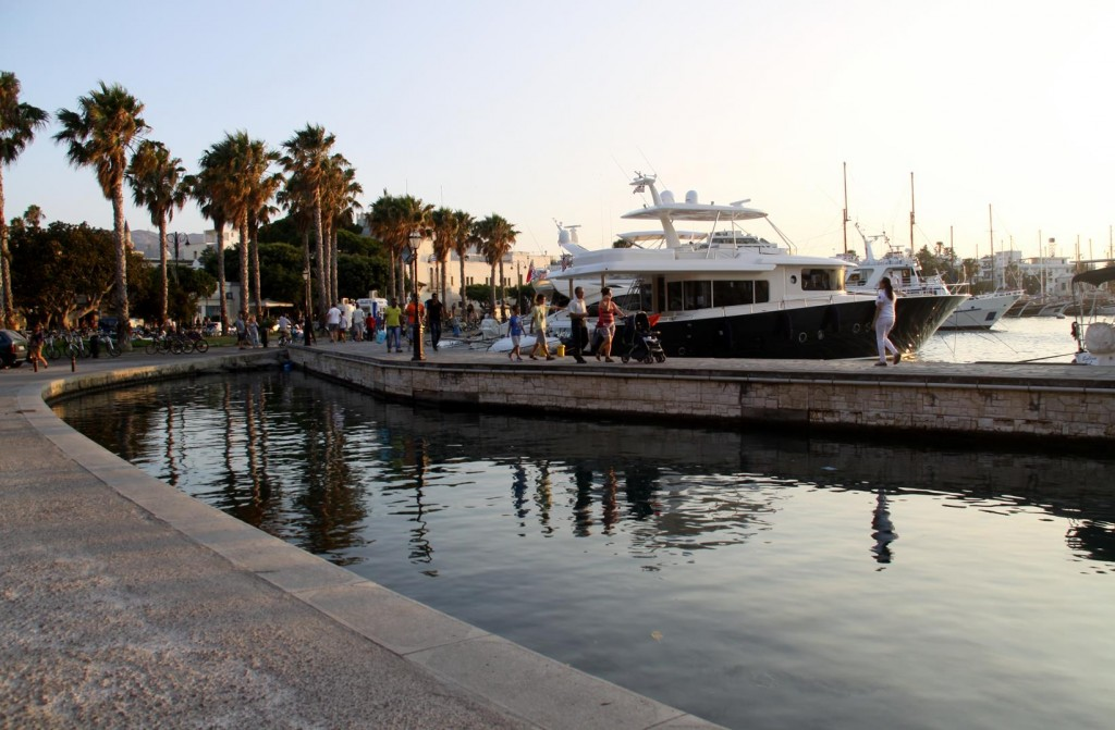 The Limited Mooring for Yachts in the Old Kos Harbour