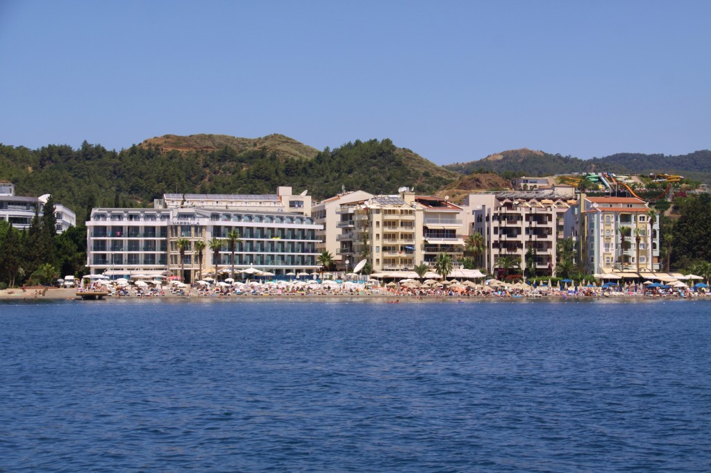For Miles Along the Western Shore of  Marmaris Bay are Many Large Hotels Catering to All Inclusive Holidaymakers